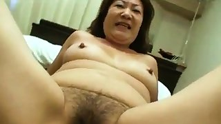 Asian Granny Loves Young Dick