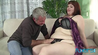 BBW Cherie with older big loving guy who solo knows how to threat her