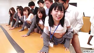 JAV huge group sex office orchestra prevalent HD with Subtitles